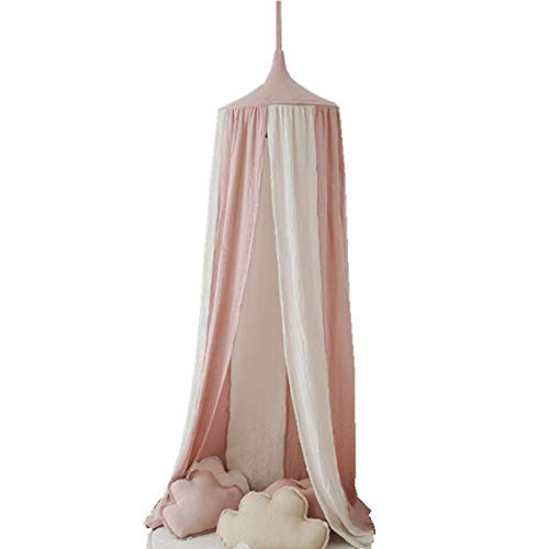 STKASE Bed Canopy, Children Bed Canopy Round Dome, Nursery Decorations, Cotton Mosquito Net, Kids Princess Play Tents, Room Decoration for Baby