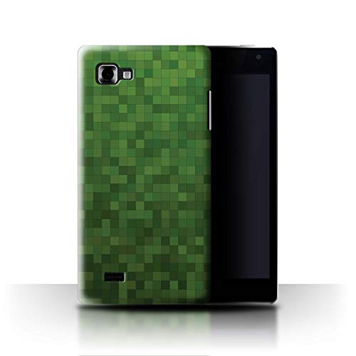 Stuff4 Coque de Coque pour LG Optimus 4X HD P880 / Vert Forêt Design/Camouflage Motif Pixel Collection