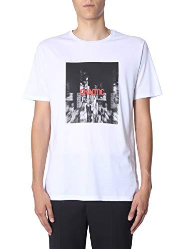 Neil Barrett Luxury Fashion Hombre BJT613SM574S1141 Blanco T-Shirt | Otoño-Invierno 19