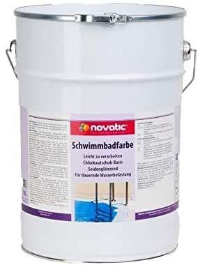 novatic Schwimmbadfarbe (30 KG, RAL5012 lichtblau)
