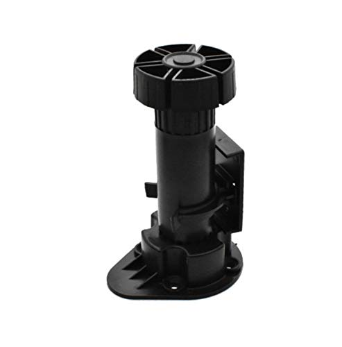 Xntun 12 Pack Black Cabinet Leveler Legs Adjustable Furniture Legs Adjusts from 3-7/8