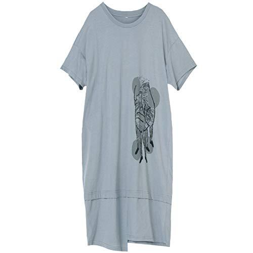 BINGQZ Cocktail Jurken Halflange jurk zomer vrouwen katoen casual sport t-shirt rok grote maat zomerjurk