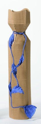 10x Weinverpackung Rosette - natur (braun), Flaschenkarton, Weinkarton, Geschenkverpackung - 1 Flasche