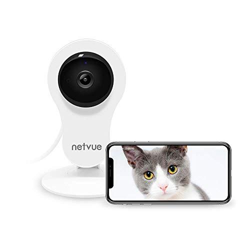 Cámaras Vigilancia WiFi Interior, Netvue HD Cámara IP con Visión Nocturna, Detección de Movimiento, Audio de 2 Vías, Cámara de seguridad inalámbrica para bebé/mascotas