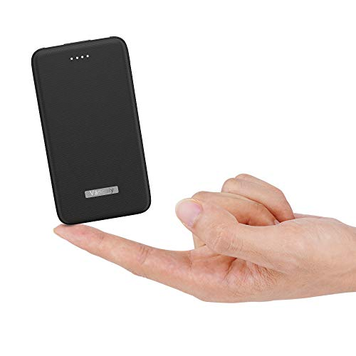 Vancely Power Bank 10000mAh, Caricabatterie Portatile 2 USB Porte, Batteria Esterna per iPhone, iPad, Samsung, Huawei,Tablet-Nero