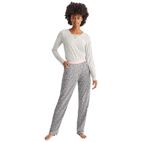 PROMISE Pijama de Mujer para Entretiempo...