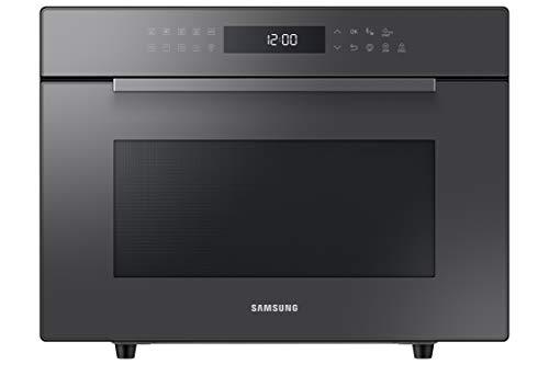Samsung MC35R8088LC/ET Forno Microonde Combinato, 35 Litri, 1400 W, Grill XXL, con Piatto Doratore e Vaporiera, Nero