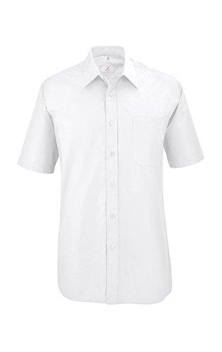 GREIFF Herren-Hemd Anzughemd Classic Comfort fit - Kurzarm - Style 321, Farbe: Weiß, Größe: 39/40