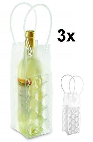 Necuma 3 Stück Weinkühler mit Eisgel zum einfrieren/Sektkühler Flaschenkühler