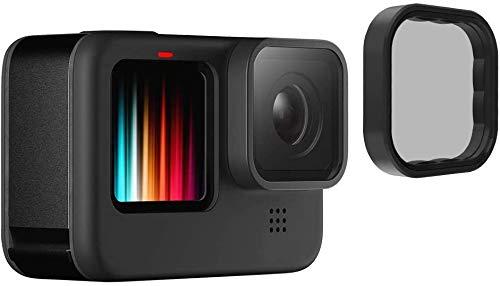 TELESIN Polarisationsfilter für GoPro Hero 9 schwarz, CPL Zirkular-Polarisationsfilter Objektivschutz für Go Pro 9 Zubehör
