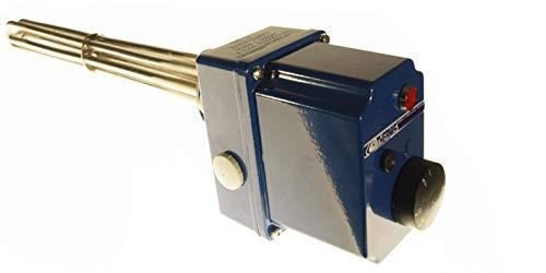 THERMIS TRG 11 Heizstab Heizpatrone mit Thermostat 3kW 3/400V G6/4 Heizelement für Wasserspeicher Boiler Warmwasserspeicher Wasserheizung Heizungsspeicher