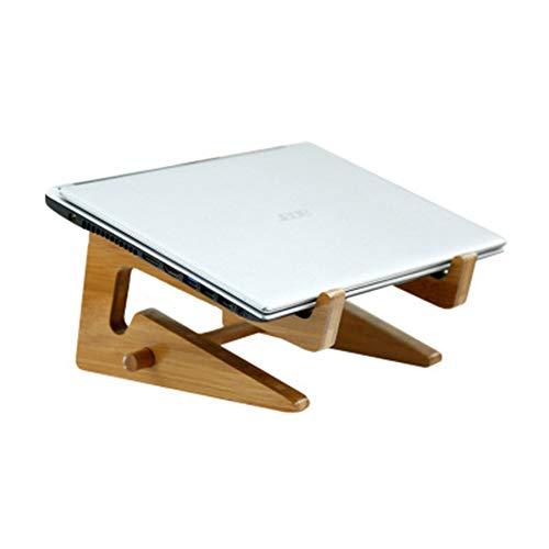YUQQZ Supporto Portatile Pc Portatile, Pieghevole Supporto Notebook Legno, Laptop Stand, Supporto Laptop Regolabile,Adatto per MacBook, Laptop Apple (10-17 Pollici)
