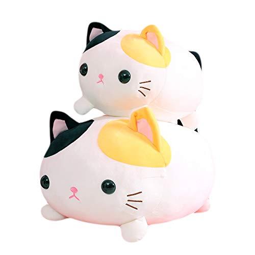 New Beneden Katoen Kleur Little Milk Cat Kussen Pluche Children's Toy Feel Soft Doll lange strook kussen kussen Gift (Size : 35CM)