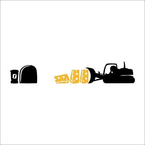 JPDP Mooie Leuke Ratten Auto Voedsel Home Decal Muurstickerdifferent DIY Verwijderbare Adesivo De Parede voor Klas Keuken Decor,VA370