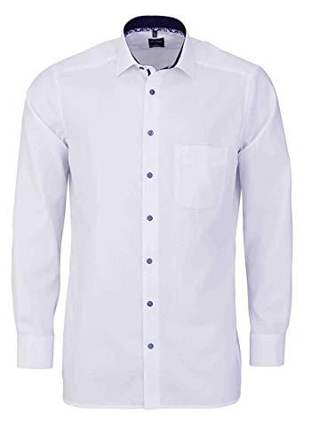 OLYMP Herren Hemd Modern Fit Langarm Weiss (10) 44