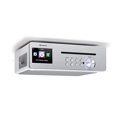 auna Silverstar Chef Küchenradio, Unterbauradio, 10W RMS / 20W max, CD-Player, Bluetooth-Funktion, Radio: Internet/DAB+/UKW, 2,4