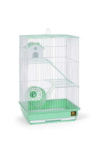Prevue Pet Products Three-Story Hamster & Gerbil Cage Green & White SP2030GR