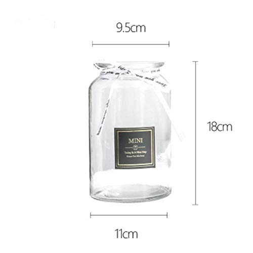 1Pcs Ins Windvaas Kleine Verse Woondecoratie Nordic Brede Vazen Droge Vazen Glazen Vaas Transparante Woonkamer Decoratie, als foto