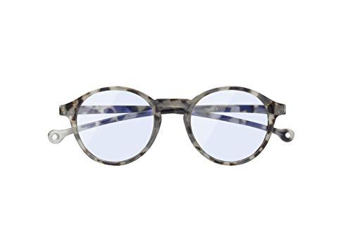 Gafas de Lectura Filtro Luz Azul +2.00 Dioptrías - Gafas Eco-Friendy Redondas y Anti-reflejantes - Color Ash Demi