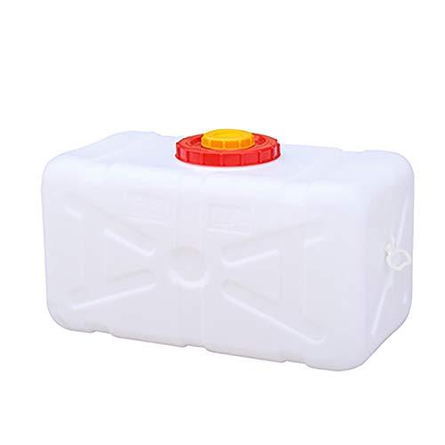 MAGFYLY garrafas de plastico Depósito Rectangular Horizontal de Gran tamaño Agua del Tanque Exterior de Gran Capacidad espesó Comida Cubo de plástico de Grado con una casa Tapa (Size : 50L)