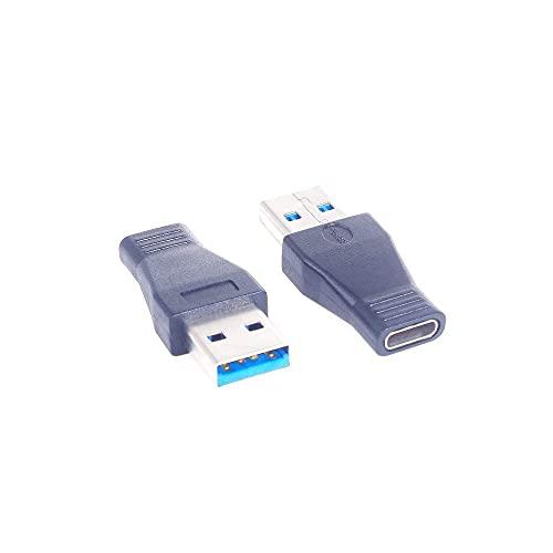 YeVhear USB-C USB 3.1 tipo C hembra a USB 3.0 A macho Adaptador convertidor compatible con sincronización de datos y carga