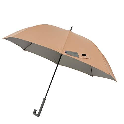小川(Ogawa) グラスファイバー骨使用長傘 ジャンプ式 65cm innovator イノベーター 晴雨兼用 UV加工 遮熱遮光加工 はっ水 ペールオレンジ 18149