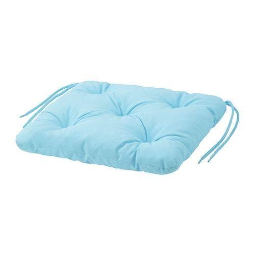 IKEA KUDDARNA - Cojín para silla (36 x 32 cm), color azul...