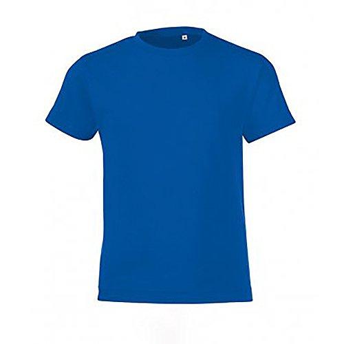 SOLS - Camiseta de manga corta modelo Regent para niños (10 años/Azul eléctrico)