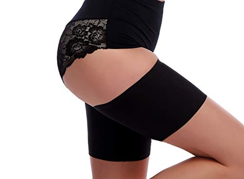 Womens Elastic Lace Thigh Bands Prevent Thigh Chafing Lace Leg Bands BKpearl 3 Pairs Anti-chafing Thigh Bands