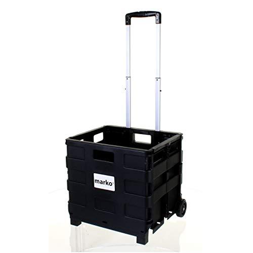 CENPEN Marko Storage Solutions - Carrito de compras (25 kilogramos, grande, resistente, ruedas de plástico, plegable, para coche, camping, plegable