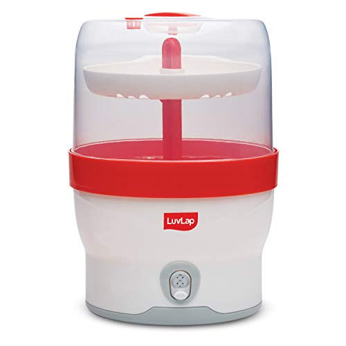 LuvLap Royal Electric Steam Sterilizer for 6 feeding bottles, BPA Free