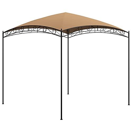 Festnight Cenador de Jardín (3 x 3 m) -Pérgolas Exterior para Fiestas de Protección UV - Tienda de Campaña para Exteriores, Boda, jardín, Fiesta, Camping, fácil de Instalar, Gris Taupé