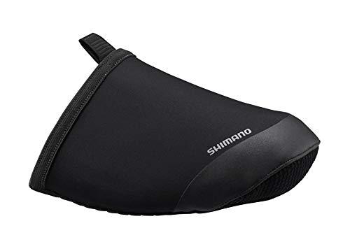 シマノ(SHIMANO) T1100R ソフトシェル トゥカバー 秋冬用サイクリングウェア ECWFABWRS14UL3 ブラック M (shoe size 40-42)