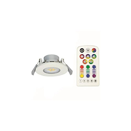 LED encastrable, aluminium, RGB, IP 65, 768 Colors, avec télécommande - Light Topps