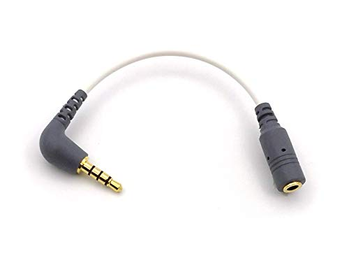 Cable adaptador de 3,5 mm TRS hembra a TRRS macho SC4 compatible con Android Smartphone Tabletas Monte VideoMic GO