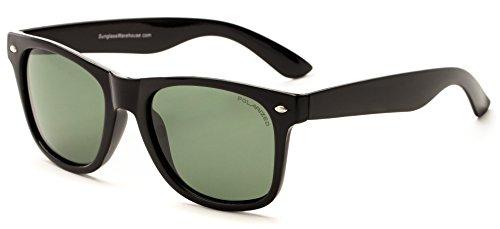 Desconocido Generic - Gafas de sol - para hombre Black Frame with Green Lenses