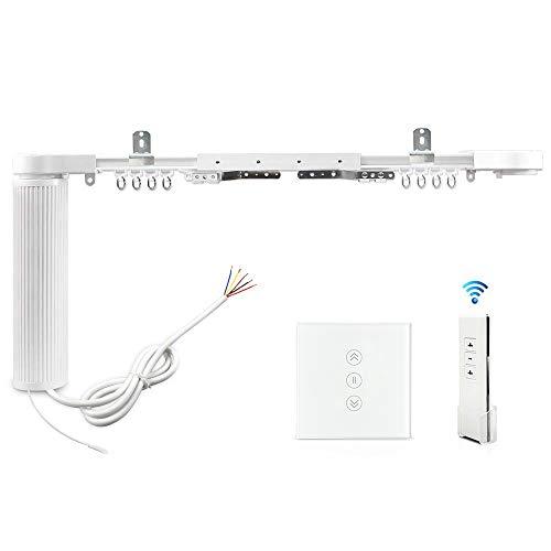 Automatische Vorhang-System Vorhang Spuren motorisierten Rutsch-Schatten-Motor mit WiFi-Jalousien Schalter kompatibel Alexa Echo Sprachsteuerung von Google Home angepasste App-Steuerung (2.2M)