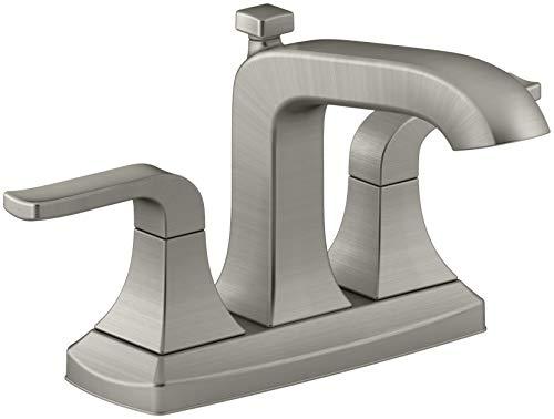 KOHLER Rubicon 4 in. Centerset 2-Handle Bathroom Faucet in Vibrant Brushed Nickel