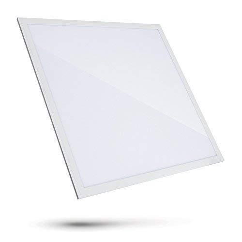 LED Panel Slim 40W 60x60cm 4000K Neutralweiß 4000lm Deckenbeleuchtung Büro Rasterdecke Deckenleuchte inkl. Trafo mit Befestigungsclips Lange Lebensdauer