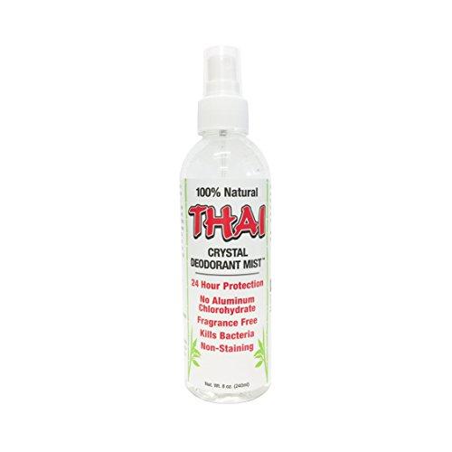 Thai Deodorant Déodorant corporel Crystal Mist - Non aérosol - Hypoallergique - Sans parfum - Vaporisateur de 235 ml