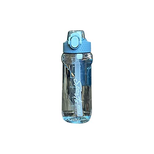22oz Water Bottle with Marker and Straw,Leakproof With Rope Easy to Carry Gallon Water Bottle for Sport Yoga Fitness