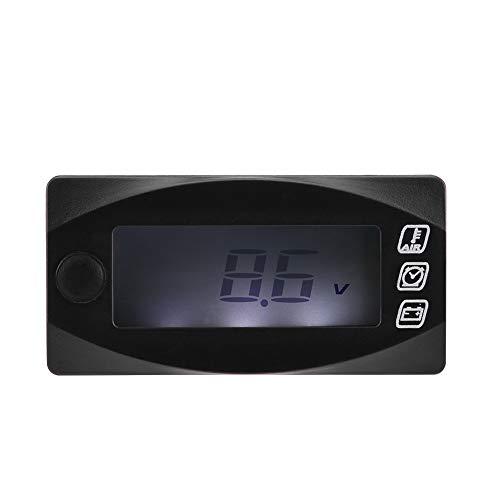 12V LED Voltmeter Mini 3 In 1 Led Voltmeter Lufttemperatur Voltmeter für Motorrad, Racing