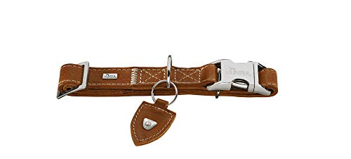 HUNTER TARA ALU-STRONG Hundehalsung, Hundehalsband, Leder, rustikal, robust, XL, cognac