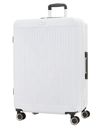 imome Fresh Maleta Grande Blanca Cierre de Combinación 77x53x32/35 cm Expandible | Trolley de Viaje Ultra Ligera | Maleta de Viaje Rígida 100% ABS Reforzado, Antiarañazos