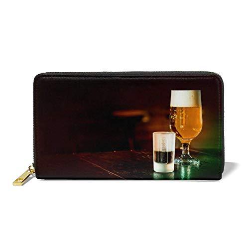 Purse Wallet,Bier-Geldbörse, Leichte Geldbörsen Für Travel Shopping Party,10.5(W) x19(L) x2.5(T) cm