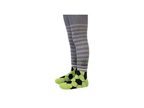 YSN Home Collection Conte-Kids Lustige Strumpfhosen aus Baumwolle für Baby Jungen Fußball Fußballspieler - grau (92-98)