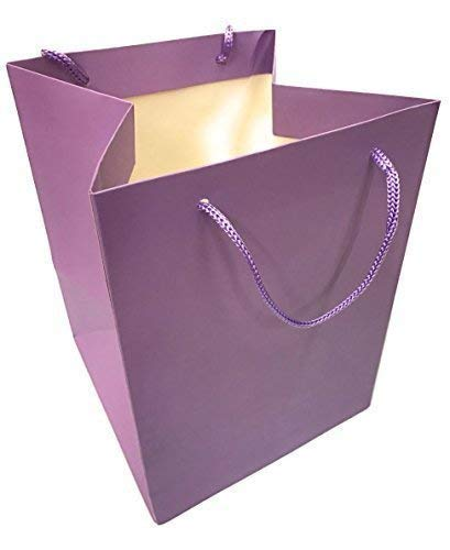 Inerra bloemenzakje - verpakking van 6 - voor handmatig bloemenboeketten en bloemen bloemen gift plant zak - paars, verpakking van 6