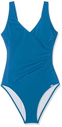 Schiesser Damen Badeanzug, Blau (Petrol 811), 38 (Herstellergröße: 038B)
