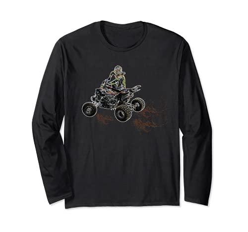 Brap ATV Cuatro Ruedas Quad Bike Mud Splatter Biker Rider Manga Larga