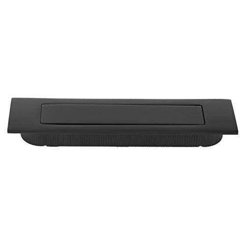 SALUTUYA Manija de aleación de Zinc Manija de Perilla de Hardware Suministros de Oficina para Puerta de Armario de Cocina(Elegant Black)